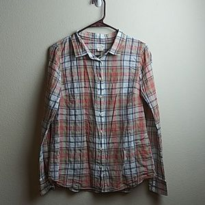 J.Crew The Perfect Shirt Plaid Multi Button Up(M)